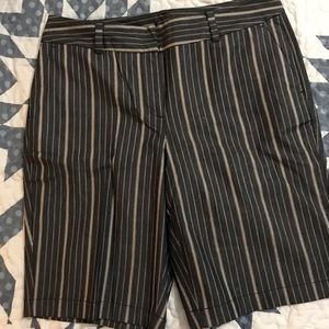 Ann Taylor blue with white stripes shorts.